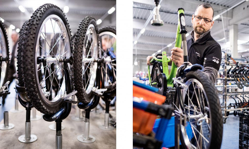 Puky in Wülfrath baut seit fast siebzig Jahren Tretroller, Lauf- und Kinderfahrräder