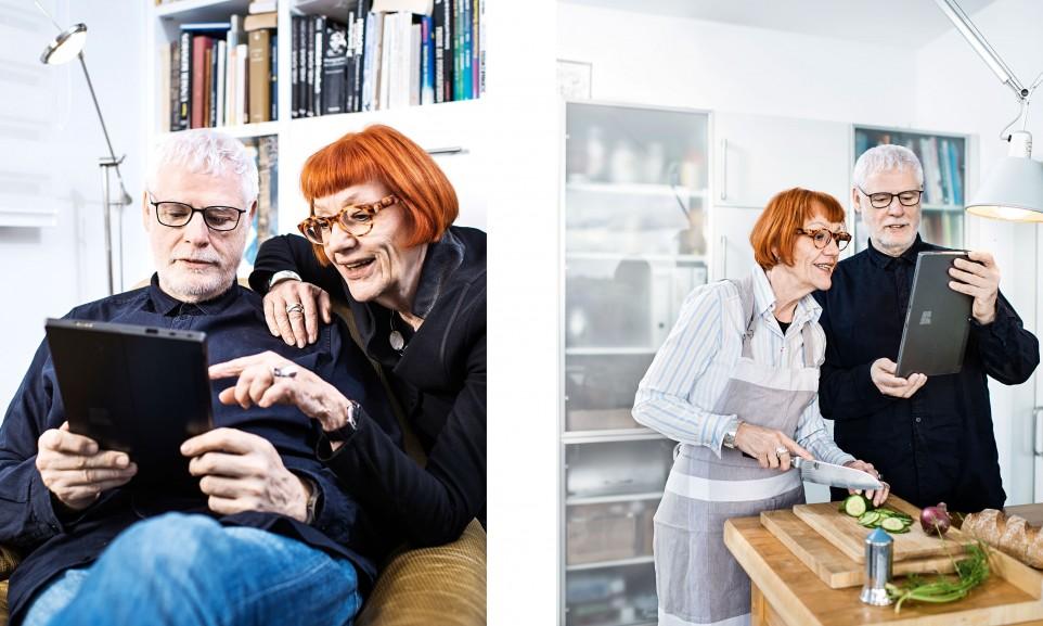 Senioren im Umgang mit digitalen Medien für Unitymedia