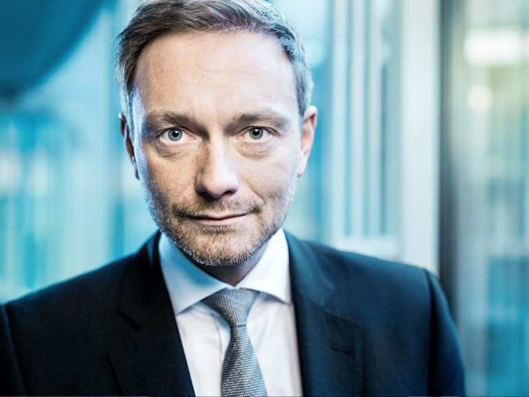 Christian Lindner, head of german liberal party FDP // Welt