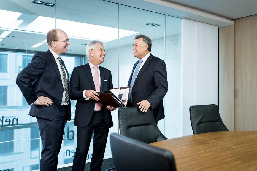 Gruppenbild Vorstand, Volksbank Mönchengladbach