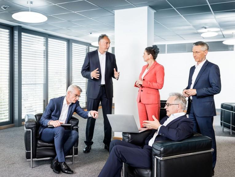 Gruppenbild Vorstand / SMS Group