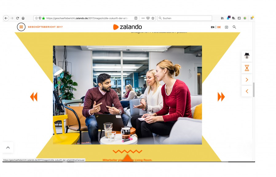 Geschäftsbericht Zalando / Berlin