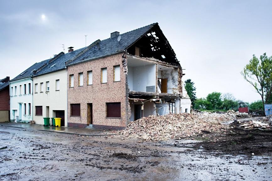 Abbruch in Pesch, 2010