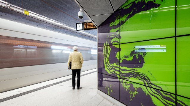 U-Bahn in schön